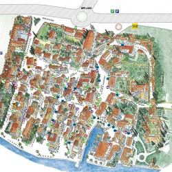 Mappa Lazise centro storico